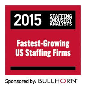 2015 Fastest-Growing Staffing Firms