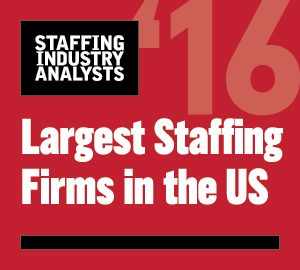 2016 Largest Staffing Firms