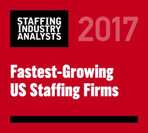 2017 Fastest-Growing US Staffing Firms
