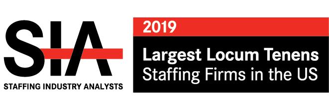 2019 Largest Locum Tenens Staffing Firms