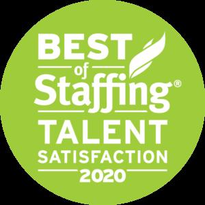 2020 Best of Staffing Talent Satisfaction Awardv
