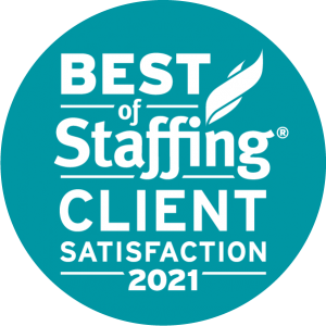2021 Best of Staffing Client Satisfaction Award