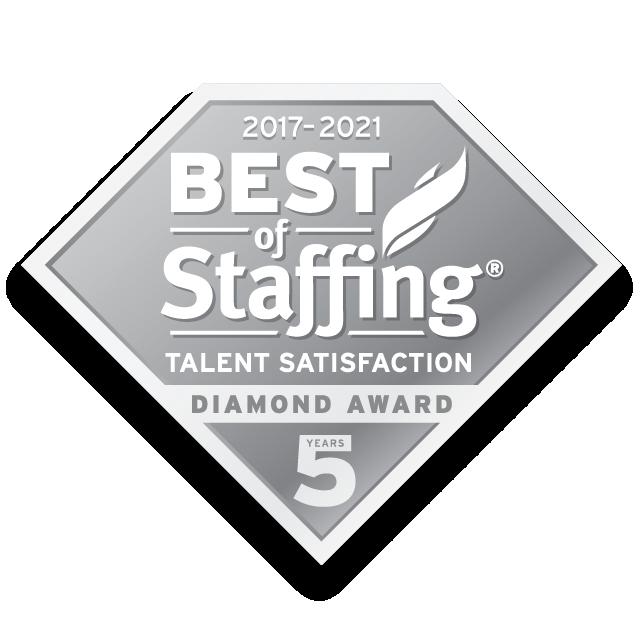 2021 Best of Staffing Talent Satisfaction Diamond Award
